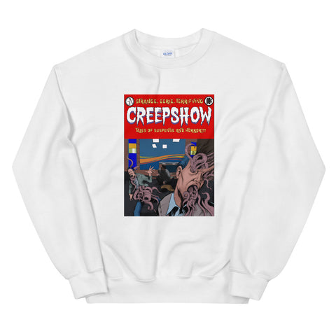 Skincrawlers Cover Unisex Sweatshirt White | Official Creepshow Store
