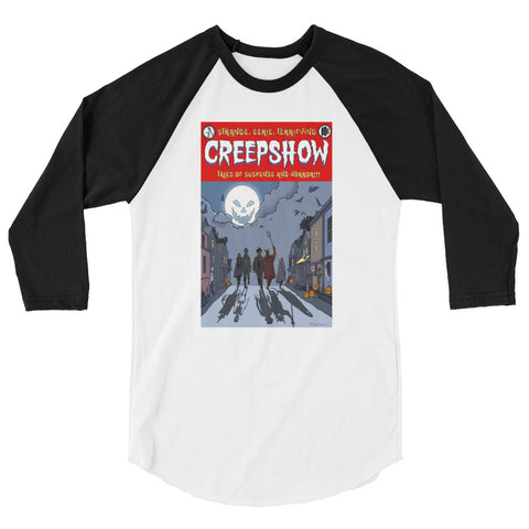 All Hallow's Eve 3/4 Sleeve Raglan Shirt White/Black | Official Creepshow Store