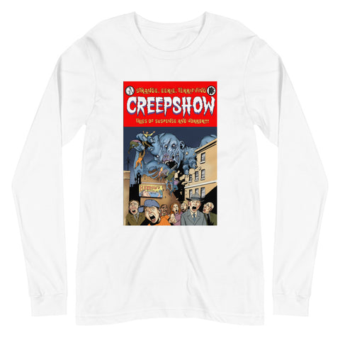 Gray Matter Cover Unisex Long Sleeve Tee White | Official Creepshow Store