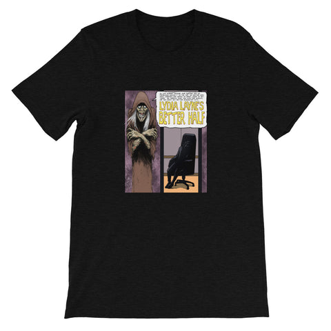 Lydia Layne's Better Half Heather Short-Sleeve Unisex T-Shirt Black Heather | Official Creepshow Store