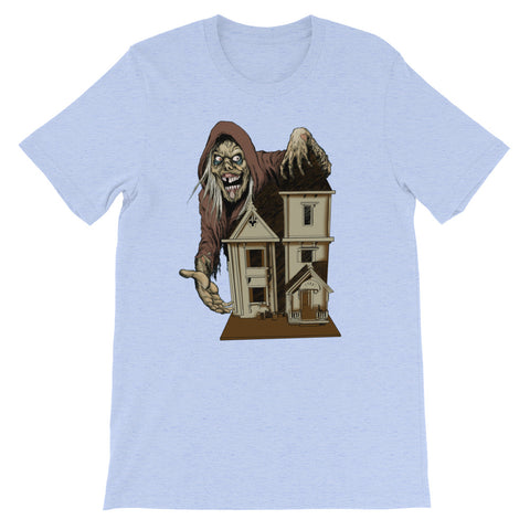 House of the Head Heather Short-Sleeve Unisex T-Shirt Heather Blue | Official Creepshow Store