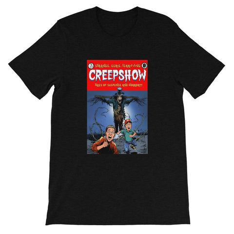 The Companion Heather Short-Sleeve Unisex T-Shirt Black Heather | Official Creepshow Store