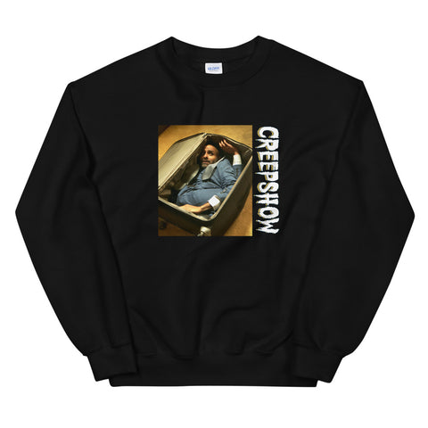 The Man in the Suitcase Photo Unisex Sweatshirt Black | Official Creepshow Store