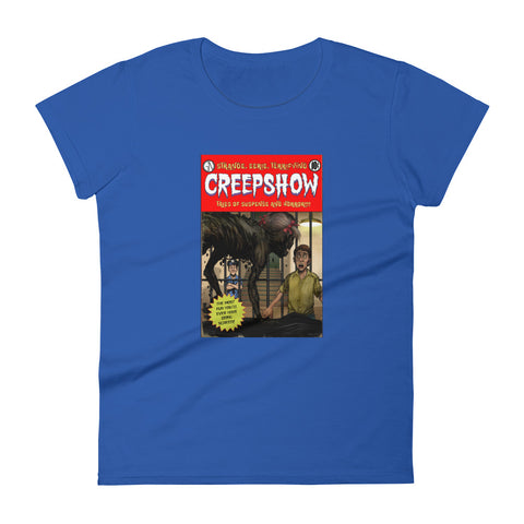 Zombie Girl Cover Women's Short Sleeve T-shirt Royal Blue | Official Creepshow Store