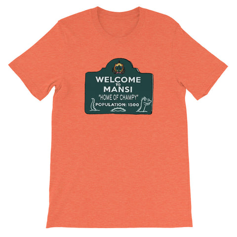 Home of Champy Heather Short-Sleeve Unisex T-Shirt Heather Orange | Official Creepshow Store
