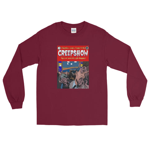 Skincrawlers Cover Long Sleeve T-Shirt Maroon | Official Creepshow Store