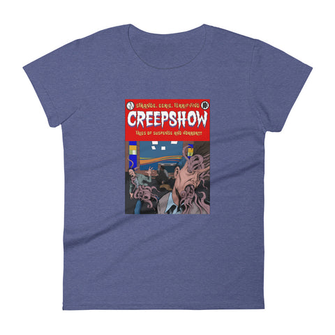 Skincrawlers Cover Women's Short Sleeve T-Shirt Heather Blue | Official Creepshow Store