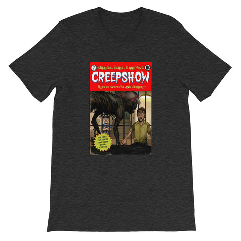 Zombie Girl Cover Heather Short-Sleeve Unisex T-Shirt Dark Grey Heather | Official Creepshow Store