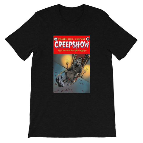 The Finger Cover Heather Short-Sleeve Unisex T-Shirt Black Heather | Official Creepshow Store