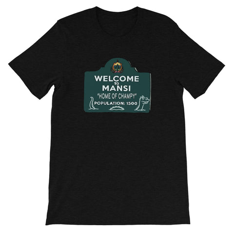 Home of Champy Heather Short-Sleeve Unisex T-Shirt Black Heather | Official Creepshow Store