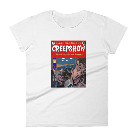 Skincrawlers Cover Women's Short Sleeve T-Shirt White | Official Creepshow Store