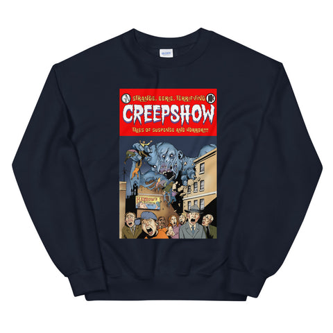 Gray Matter Cover Sweatshirt Navy | Official Creepshow Store