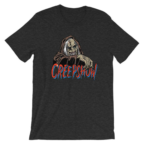 New CBC Creep Soft Short-Sleeve Unisex T-Shirt Dark Grey Heather | Official Creepshow Store