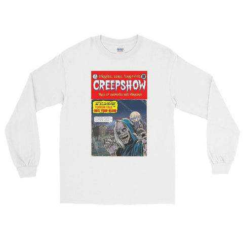 New Cover Long Sleeve T-Shirt White | Official Creepshow Store