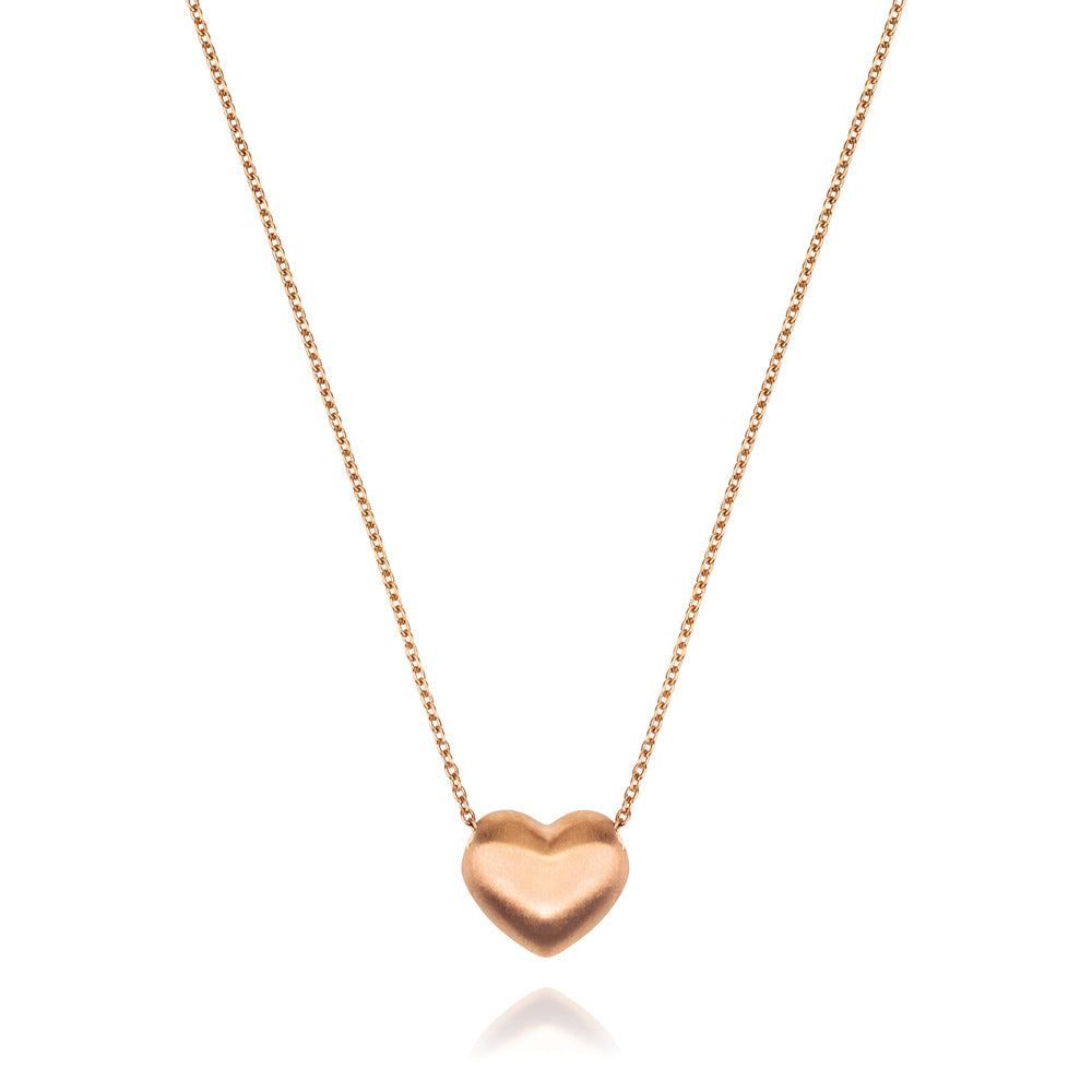 Heart of Gold Pendant - Rose Gold Plated Sterling Silver