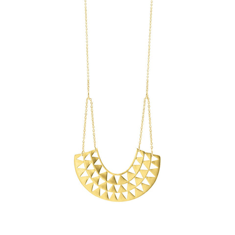 Goddess Necklace - Yellow Gold Plated Sterling Silver