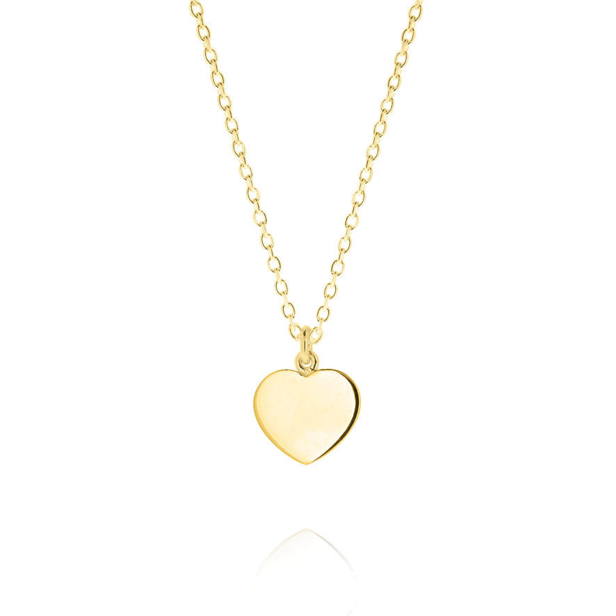 Mini Heart Pendant - Yellow Gold Plated Sterling Silver