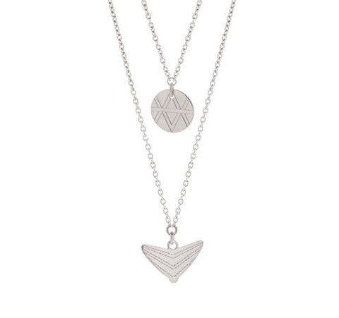 Journey Double Drop Necklace - Sterling Silver