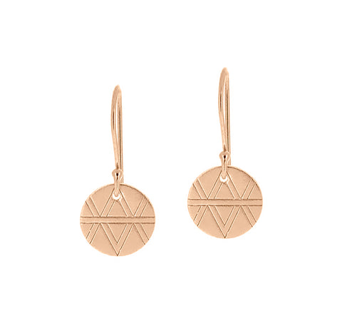 Journey Earrings - Rose Gold Plated Sterling Silver