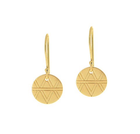 Journey Earrings - Yellow Gold Plated Sterling Silver