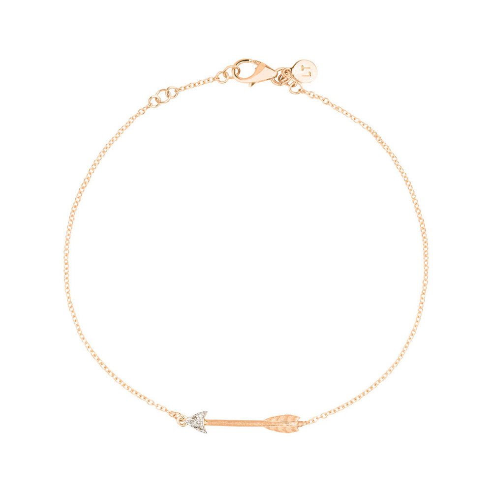Itsy Bitsy Arrow Bracelet - 9k Rose Gold & Diamond