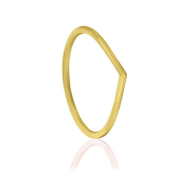 Tear Drop Ring - 9k Yellow Gold
