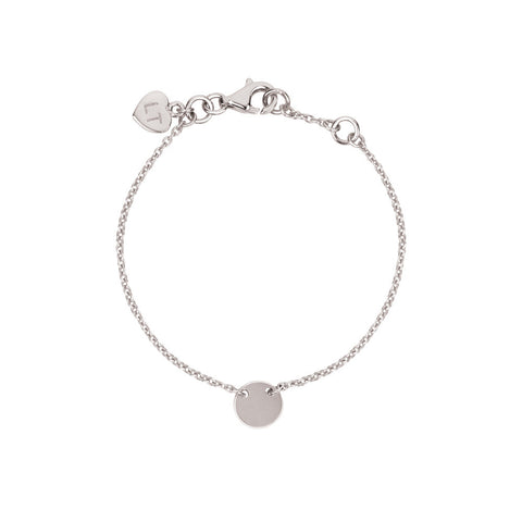 Baby Little Disc Bracelet - Sterling Silver