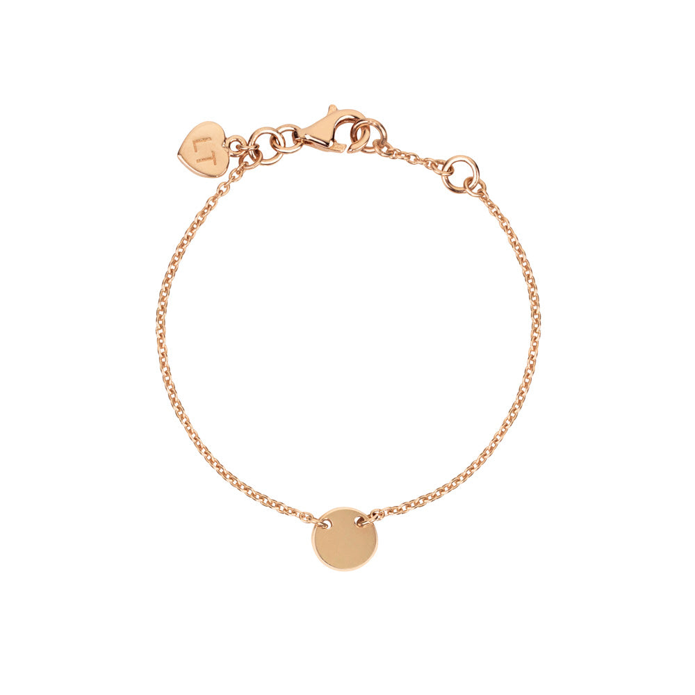 Baby Little Disc Bracelet - Rose Gold Plated Sterling Silver