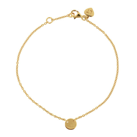 Little Disc Bracelet - Yellow Gold Plated Sterling Silver