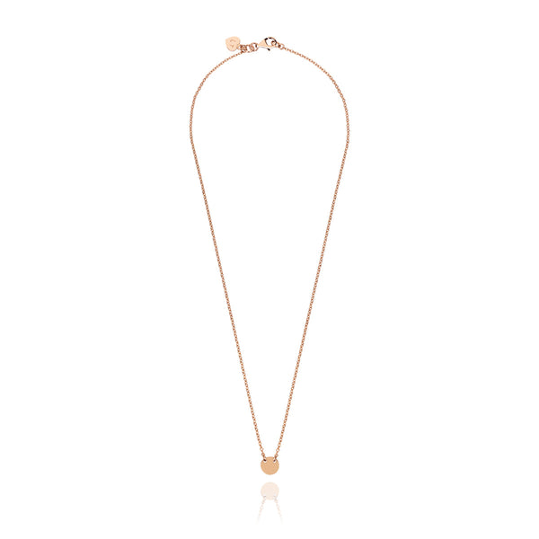 Childrens Little Disc Necklace - Rose Gold Plated Sterling Silver