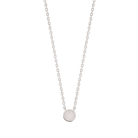 Little Disc Necklace - Sterling Silver