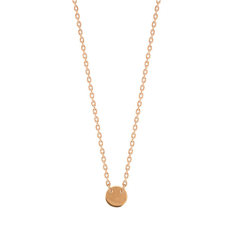 Little Disc Necklace - Rose Gold Plated Sterling Silver