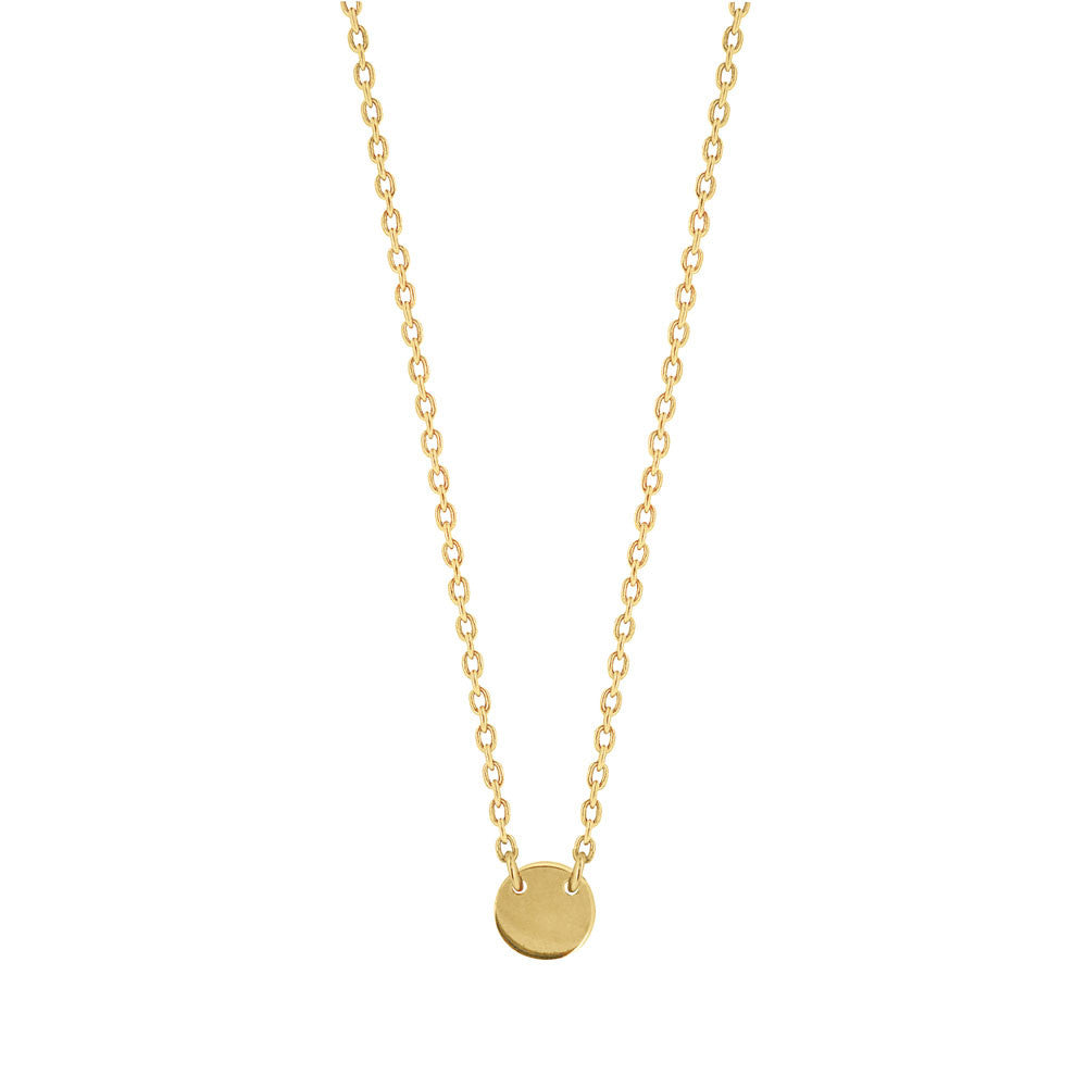Little Disc Necklace - Yellow Gold Plated Sterling Silver