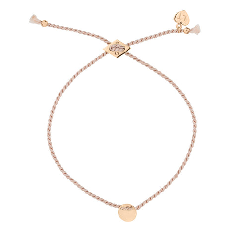 Little Disc Silk Bracelet Blush - Rose Gold Plated Sterling Silver