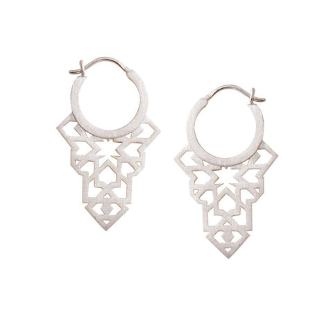 Seventh Star Earrings - Sterling Silver