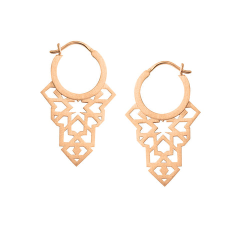 Seventh Star Earrings - Rose Gold Plated Sterling Silver