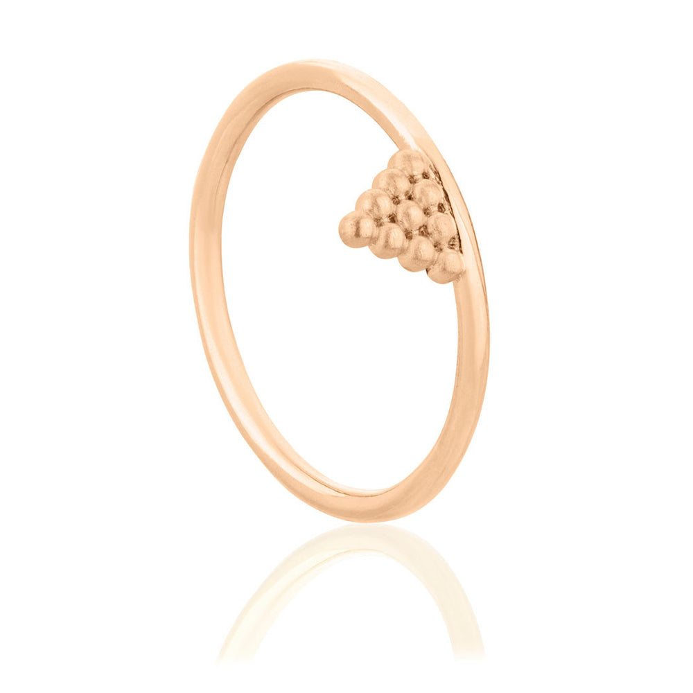 Mini Kuchi Ring - Rose Gold Plated Sterling Silver