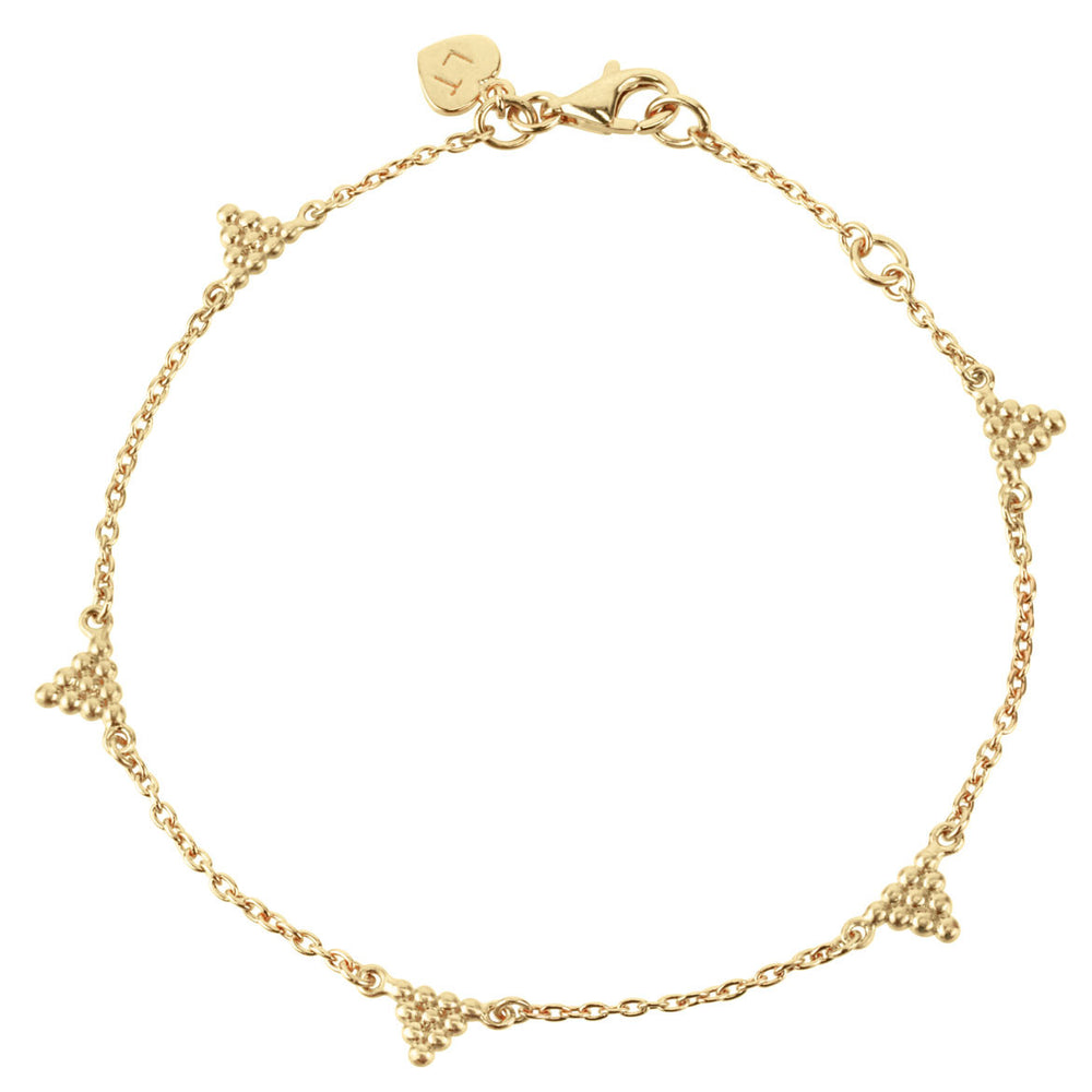 Kuchi Kuchi Bracelet - Yellow Gold Plated Sterling Silver