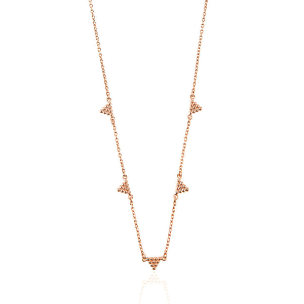 Kuchi Kuchi Necklace - Rose Gold Plated Sterling Silver