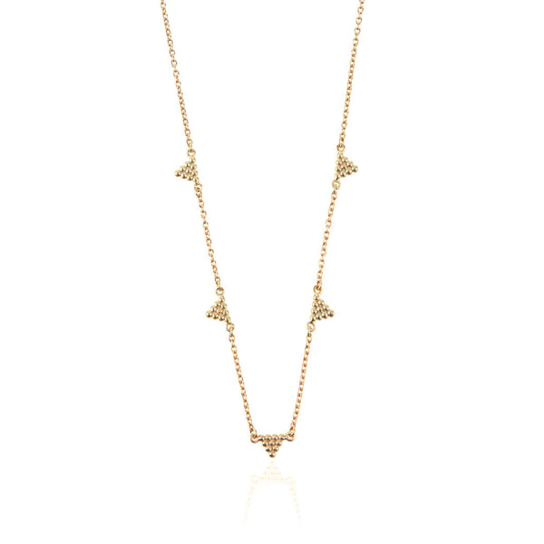 Kuchi Kuchi Necklace - Yellow Gold Plated Sterling Silver