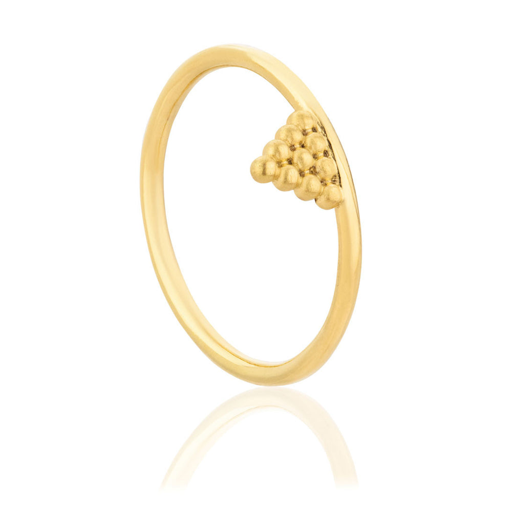 Mini Kuchi Ring - Yellow Gold Plated Sterling Silver