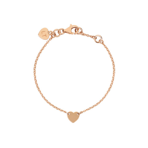 Baby Itsy Bitsy Heart Bracelet - Rose Gold Plated Sterling Silver