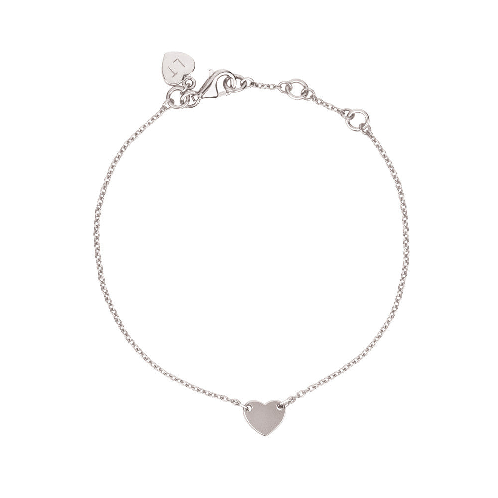 Childrens Itsy Bitsy Heart Bracelet - Sterling Silver