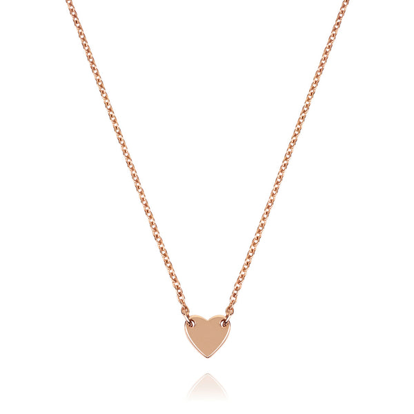 Childrens Itsy Bitsy Heart Necklace - Rose Gold Plated Sterling Silver