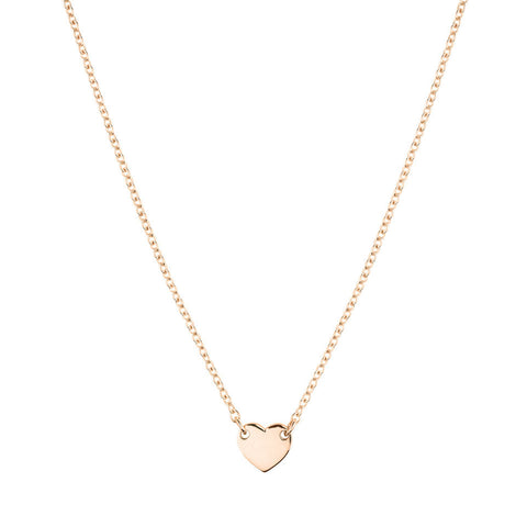 Itsy Bitsy Heart Necklace - Rose Gold Plated Sterling Silver