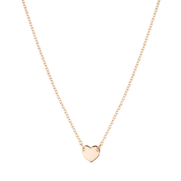 Itsy Bitsy Heart Necklace - 9k Rose Gold
