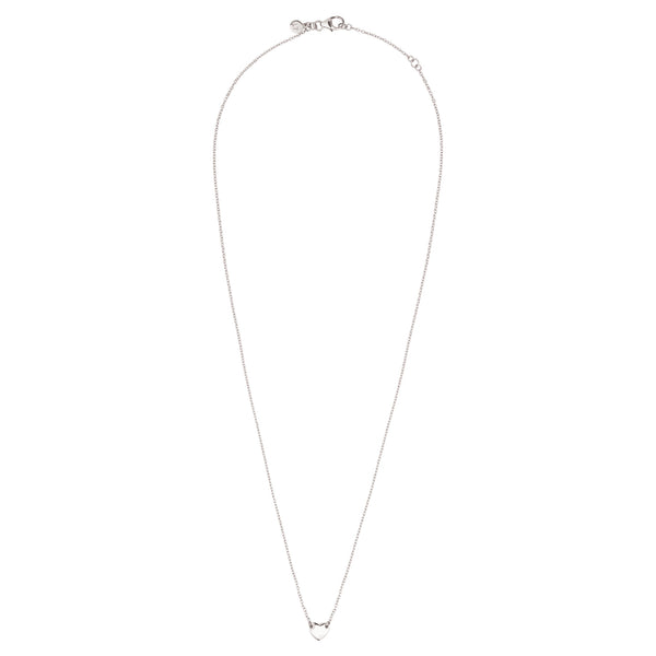 Itsy Bitsy Heart Necklace - 9k White Gold