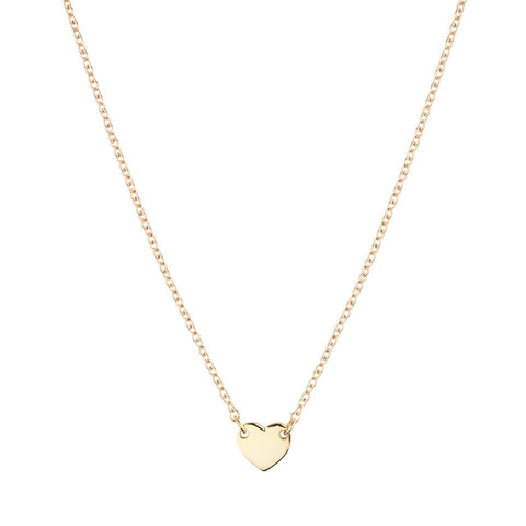 Itsy Bitsy Heart Necklace - Yellow Gold Plated Sterling Silver