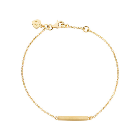 Bar Bracelet - Yellow Gold Plated Sterling Silver