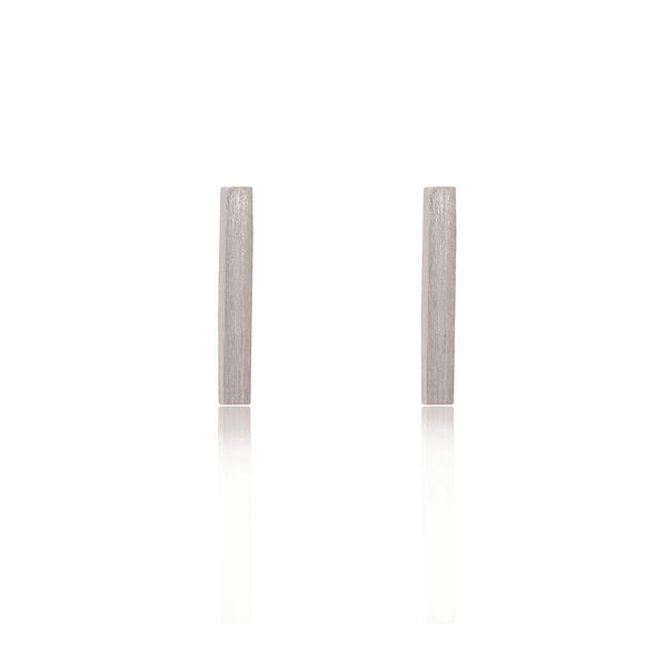 Bar Stud Earrings - Sterling Silver